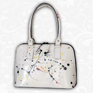 áto kvalitná kožená kabelka sa hodí ku každej príležitosti, vďaka svojmu umeleckému vzhľadu a módnej maľbe