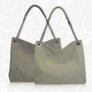Kožená kabelka s módnou potlačou č.8246