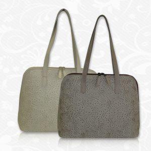 Kožená kabelka s módnou potlačou č.8573
