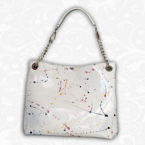 Umelecká ručne maľovaná kožená kabelka č.8246