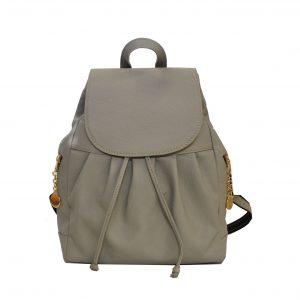 Dámsky kožený módny ruksak 8665u z prírodnej kože v šedej farbe
