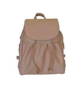 Dámsky kožený módny ruksak z prírodnej kože v hnedej farbe. Pravá prírodná koža je úžasný materiál a kožený ruksak vám môže vydržať pokojne celý život.