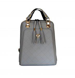 Kožený ruksak z pravej hovädzej kože č.8668 v tmavo šedej farbe (2)