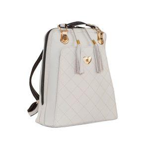 Kožený ruksak z pravej hovädzej kože č.8668 vo svetlo šedej farbe (1)