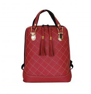 kožený ruksak z pravej hovädzej kože so strapcami je vhodný na bežné nosenie (2)