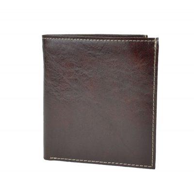 Kožená peňaženka s bohatou výbavou č.8334 v hnedej farbe (1)