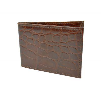 Púzdro z kože na platobné karty, hnedá lesklá hadina (2)