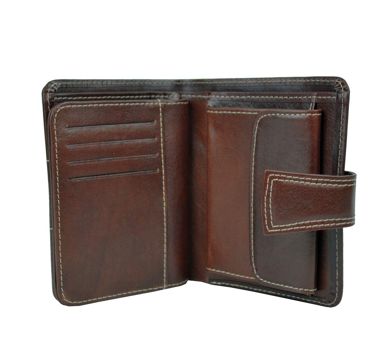 Unisex kožená peňaženka vyrobená z prírodnej kože. Kvalitné spracovanie a talianska koža. Ideálna veľkosť do vrecka a značková kvalita pre náročných (3)