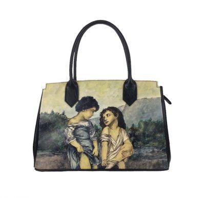 Ručne maľovaná kabelka 8576 inšpirovaná motívom William-Adolphe Bouguereau