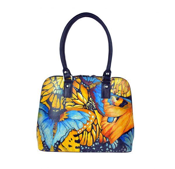 Ručne maľovaná kabelka , kožené kabelky, dámska kabelka, malba na kozu (2)