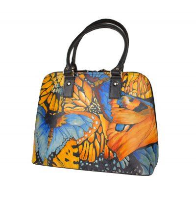 Ručne maľovaná kabelka , kožené kabelky, dámska kabelka, malba na kozu (5)