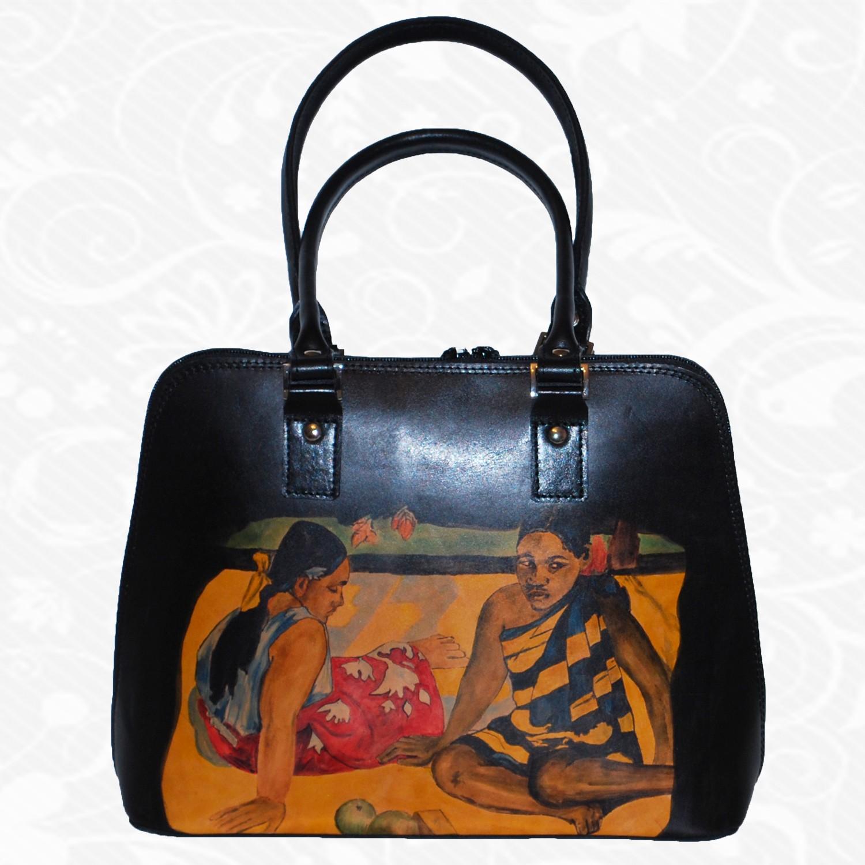 917a77862b Ručne maľovaná kožená kabelka z pravej talianskej kože