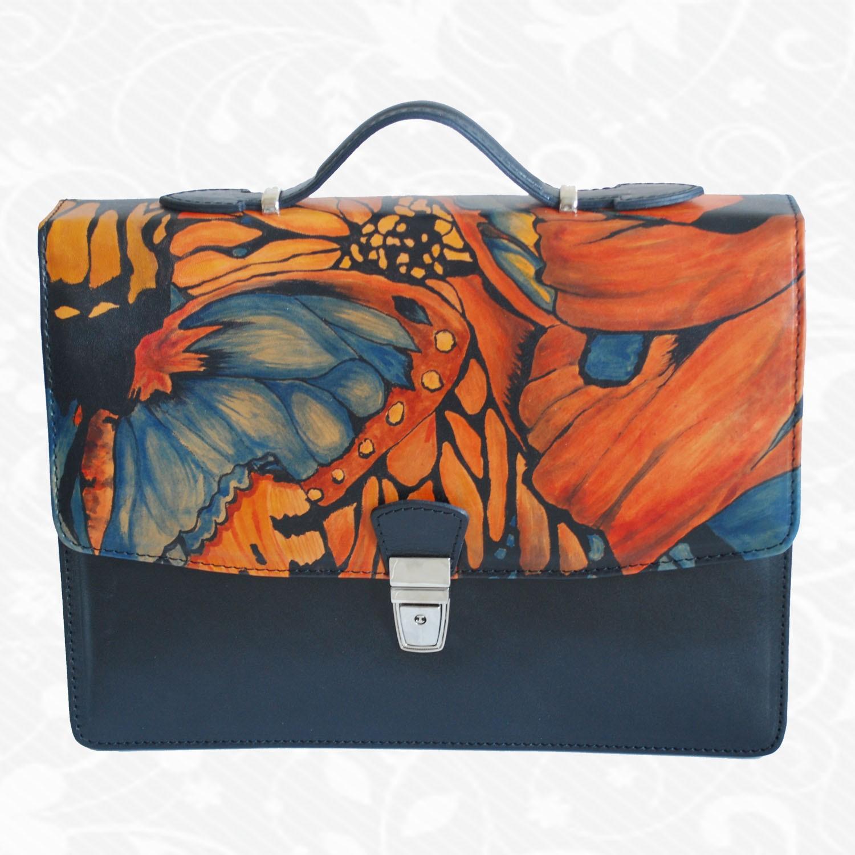 7e2472241a7f Originálna ručne maľovaná kožená kabelka z pravej kože