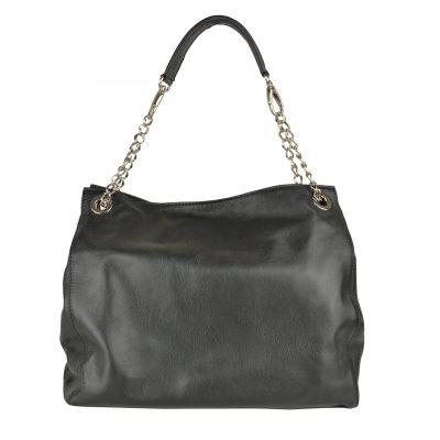 Kožená elegantná kabelka č.8246 v čiernej farbe