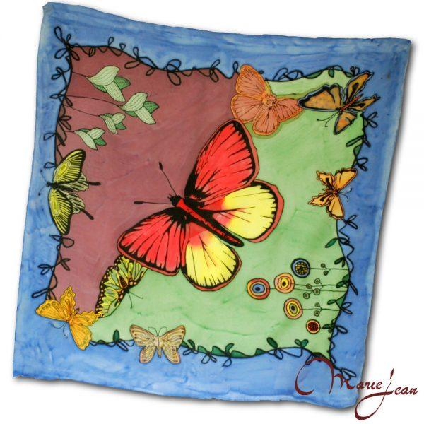 hodvábna šatka motýl - elegantná šatka