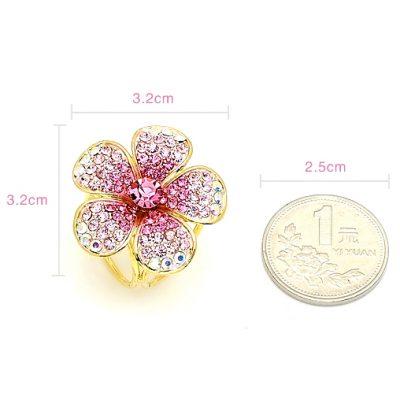 Prstenec na šatku - Ligotavý kvet - ružový