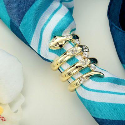 zlatý had- šperk na šatku