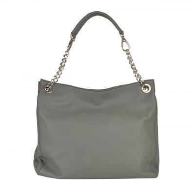Kožená elegantná kabelka č.8246 v šedej farbe,