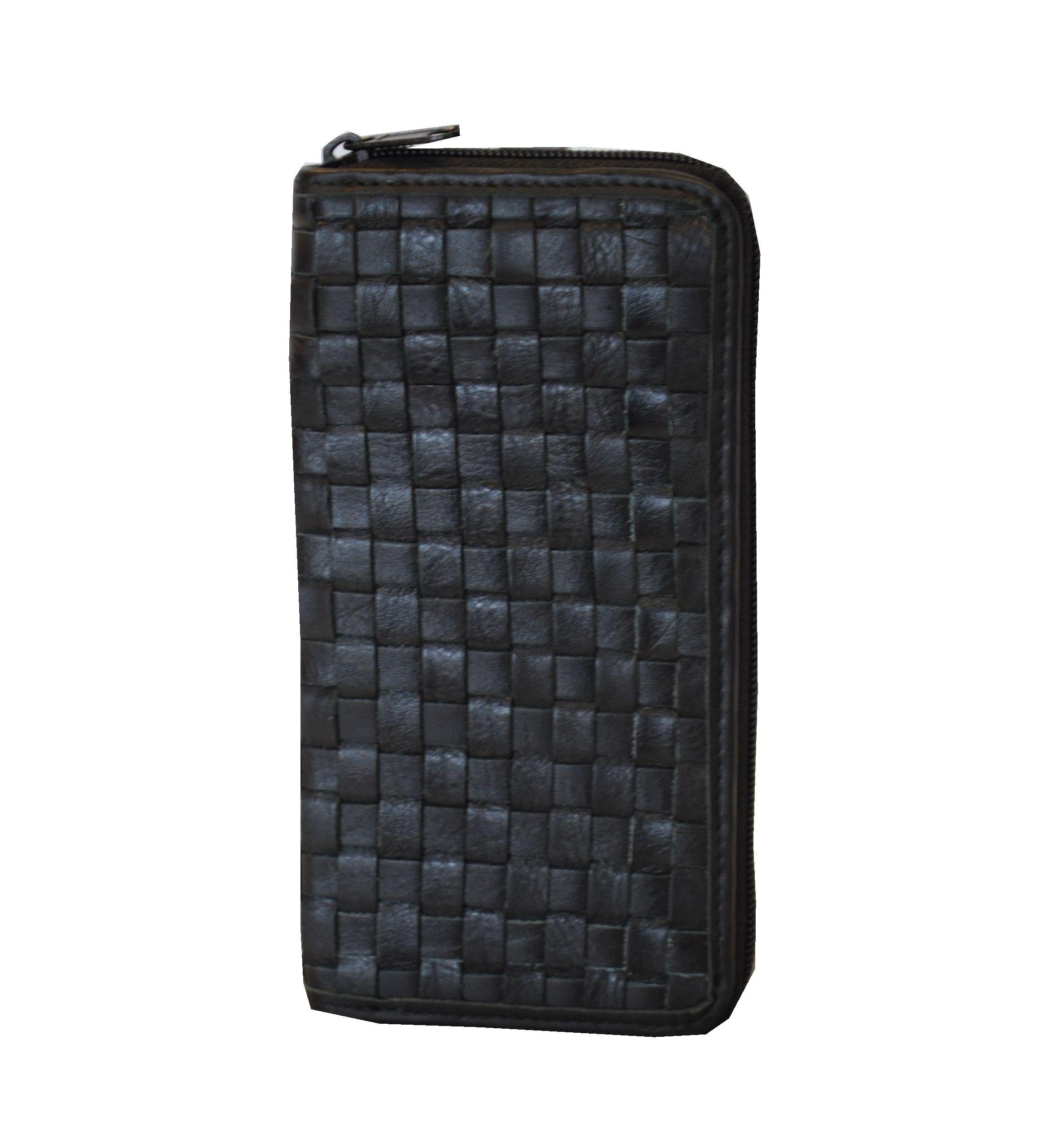 fcdf44f61d Originálna pletená kožená peňaženka č.8606 v čiernej farbe