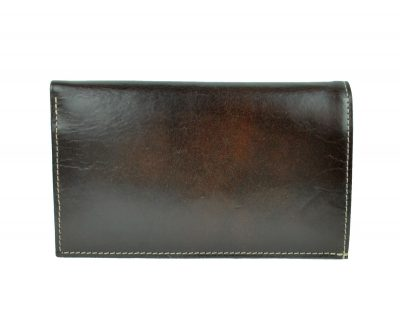 Elegantná kožená dokladovka č.8203 v tmavo hnedej farbe (1)
