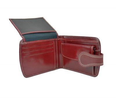 Elegantná kožená peňaženka č.8467 v červenej farbe (1)