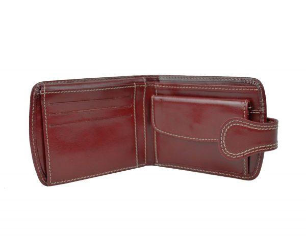 Elegantná kožená peňaženka č.8467 v červenej farbe (4)