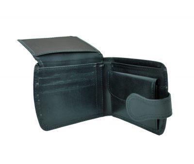 Elegantná kožená peňaženka č.8467 v čiernej farbe (1)