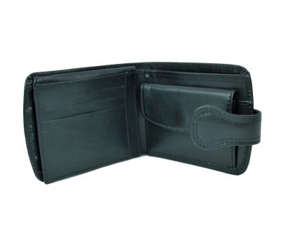 Elegantná kožená peňaženka č.8467 v čiernej farbe (3)