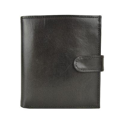 Exkluzívna kožená peňaženka č.8333 v čiernej farbe