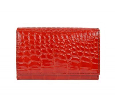 Lakovaná kožená peňaženka č.8542 v červenej farbe (2)