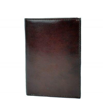 Luxusná kožená dokladovka č.8204 v tmavo hnedej farbe (1)