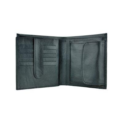 Luxusná kožená peňaženka č.83331 v čiernej farbe (2)