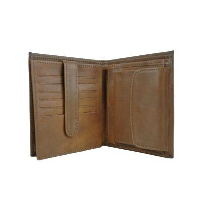 Luxusná kožená peňaženka č.83331 v hnedej farbe (1)