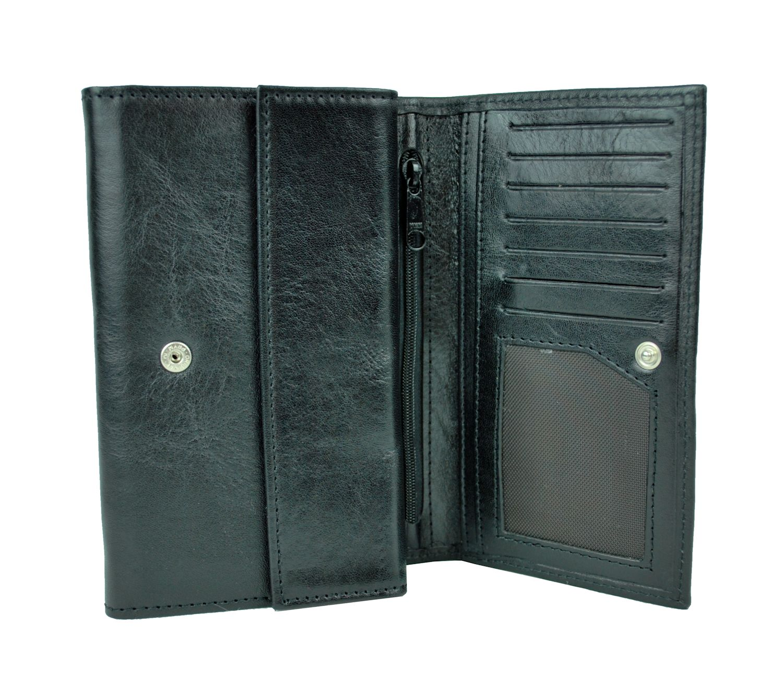 4caea5806b Luxusná kožená peňaženka z prírodnej kože. Všetky nami ponúkané kožené  peňaženky majú originálny dizajn ( · Luxusná kožená peňaženka č.8542 v čiernej  farbe