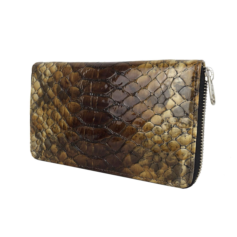 b96037d775 Kožená peňaženka so vzorom hadej kože ...