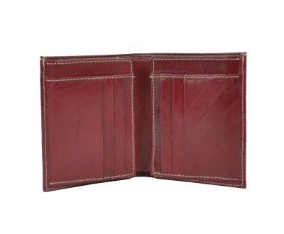 Moderná kožená dokladovka č.8194 v červenej farbe (1)