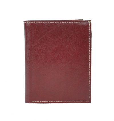 Moderná kožená dokladovka č.8194 v červenej farbe (2)