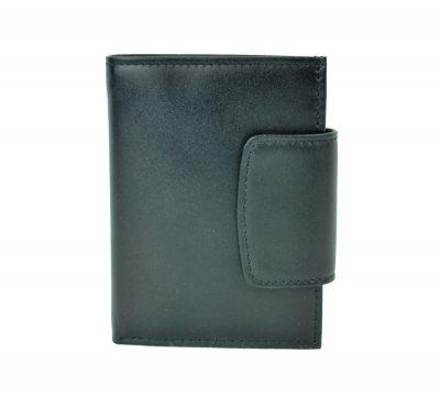 Moderná kožená peňaženka č.8211 v čiernej farbe (3)
