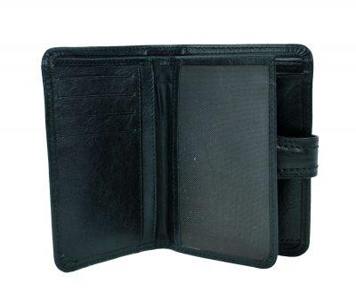 Moderná kožená peňaženka č.8462 v čiernej farbe (4)