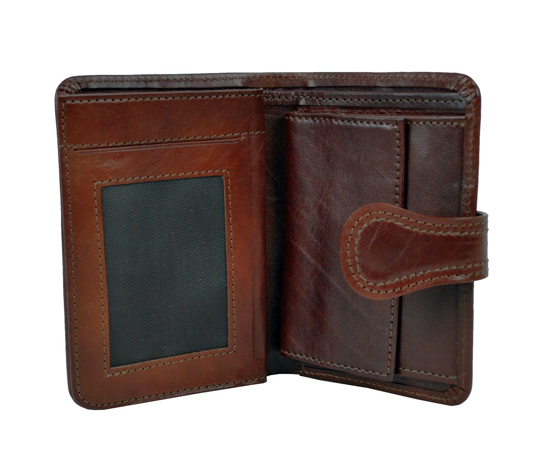 Moderná kožená peňaženka je vyrobená z prírodnej kože. Kvalitné spracovanie a talianska koža. Ideálna veľkosť do vrecka a značková kvalita (3)