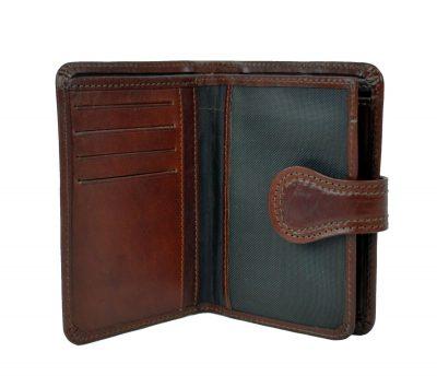 Moderná kožená peňaženka je vyrobená z prírodnej kože. Kvalitné spracovanie a talianska koža. Ideálna veľkosť do vrecka a značková kvalita (4)