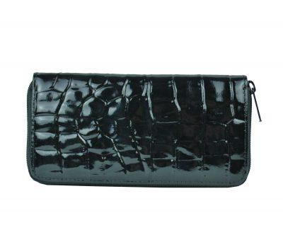 Originálna kožená peňaženka č.86063 so vzorom hadiny v čiernej farbe (2)