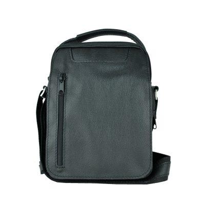 Luxusná kožená etuja č.8400, hrúbkovana koža v čiernej farbe (2)