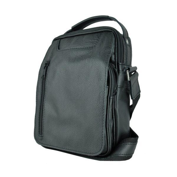Luxusná kožená etuja č.8400, hrúbkovana koža v čiernej farbe (3)