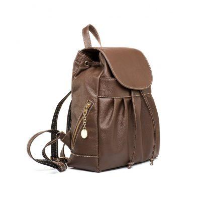 Luxusný kožený ruksak z pravej hovädzej kože č.8665 v hnedej farbe (2)