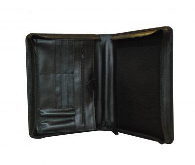 Luxusná kožená spisovka v čiernej farbe2