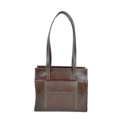 Dámska celokožená pracovná kabelaje ideálna príručná taška do každého zamestnania.Pracovnúkabelu si môžete prevesiť cez rameno (1)