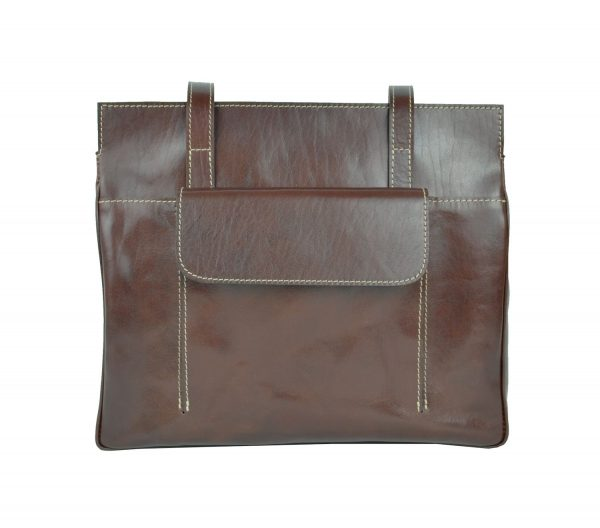Dámska celokožená pracovná kabelaje ideálna príručná taška do každého zamestnania.Pracovnúkabelu si môžete prevesiť cez rameno (2)