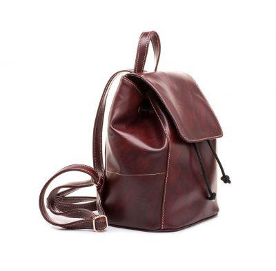 Dámsky módny ruksak 8659k v bordovej farbe (1)