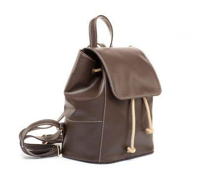 Dámsky módny ruksak 8659k v hnedej farbe (2)